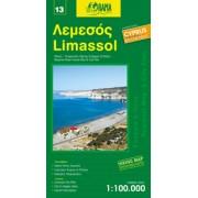 Fietskaart - Wegenkaart - landkaart 13 Limassol Cyprus | Orama