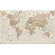 Wereldkaart 90P Antiek & politiek, 136 x 84 cm | Maps International