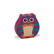 Go Rattle design super carino colorato gufo di legno (piccolo)