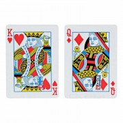 "Magician Prop Change ""3"" to ""5"" Poker Card - Red + White"