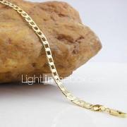 Heren Dames Armbanden met ketting en sluiting Modieus Koper Liefde Gouden Sieraden Voor Feest Kerstcadeaus 1 stuks