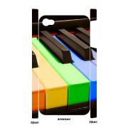 Gekleurde piano iPhone 4 en 4S Case