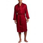 Majestic Herringbone Stripejacquard Silk Robe Traje de baño para hombre, color red (mahogany), talla xl