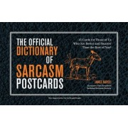 The Official Dictionary of Sarcasm Postcards by James Napoli