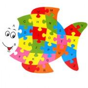 Imported Alphabet Puzzle Educational Toys - Fish