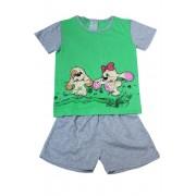 Fifinka - dívčí pyžamo 5-6 let zelená
