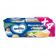 Mellin Merende Latte - Kit risparmio 4x Merenda Latte Vaniglia - KIT_4X_Confezione da 260 g ℮ (2 vasetti x 130 g)
