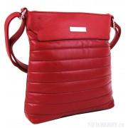 Elegantní prošívaná crossbody kabelka YH1603 červená