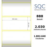 Etichette SQC - Carta patinata (bobina), formato 55 x 25