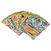 Eshion 100 PCS Pokemon TCG Flash Cards Holo EX Card 80 PCS Basic & 20 PCS MEGAUS Stock