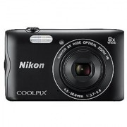Nikon Coolpix A300 20.1MP Point and Shoot Camera with 8x Optical Zoom (Black)