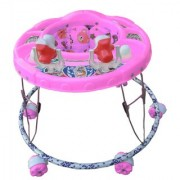 Oh Baby Baby Round Shape 2 Big Rattle Pink Color Walker For Your Kids SE-W-55