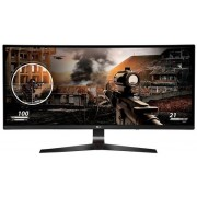 "Monitor Gaming IPS LED LG 34"" 34UC79G, Ultra Wide (2560 x 1080), HDMI, DisplayPort, Ecran curbat, 5 ms, 144 Hz (Negru)"