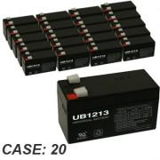 12V 1.3Ah 20pk Sealed Lead Acid Batteries Universal UB1213 D5738