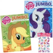 My Little Pony Jumbo Coloring and Activity Book Holiday Christmas Gift Set for Kids - 2 Jumbo Coloring Books Plus Pack of Stickers