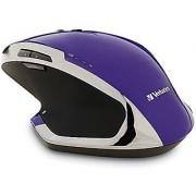 Verbatim Wireless Desktop 8-Button Deluxe Blue LED Mouse Purple 99020