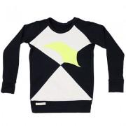 Bluza Romb (unisex) - negru si alb murdar, 1-2 ani