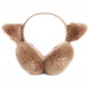 Creativas plegable orejeras de la felpa linda calentadores del oído -Marrón