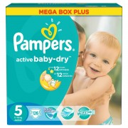 Scutece Pampers Active Baby 5 Junior Mega Box Plus 126 buc
