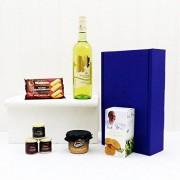 Fine Food Store Broadleaf bianco vino e stuzzichini confezione regalo