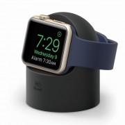 Elago W2 Watch Stand - силиконова поставка за Apple Watch (черна)