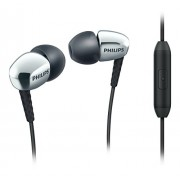 Philips SHE3905 In Ear Headphones with Mic (Silver)
