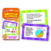 Challenge Flash Cards, Math Grades 1-3, 3 1/8 x 5 1/4, 56 per Pack, Sold as 1 Package