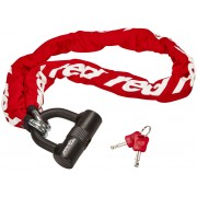 Red Cycling Products High Secure Chain Plus - Antivol chaîne - rouge/blanc Chaînes antivol