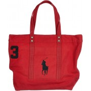Ralph Lauren Handbag Canvas Red