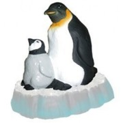 Emperor Penguin Parent and Baby Bath Toy: Penguins on Ice Celebriduck