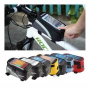 EW ROSWHEEL Le Xuan 12496 bicicleta teléfono de pantalla táctil móvil negro 5C paquete de 5.5 pulgadas