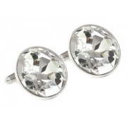 Mousie Bean Crystal Cufflinks Large Round 119 Crystal
