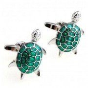 GearBest Pair of High Quality Green Animal Shape Men's Cufflinks