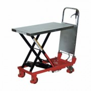Vestil Hydraulic Elevating Cart - Manual Power, Single Scissor, 400-Lb. Capacity, 17 1/2 Inch x 27 1/2 Inch Platform, Model CART-400, Blue