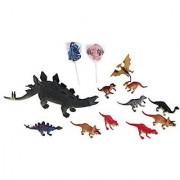 Kids Stegosaurus Dinosaur Toy Bundle- 4 Items: 10 inch Stegosaurus Dinosaur-Makes a Sound 10 pk of 4 inch Dinosaurs 2 Dinosaur Lollipops