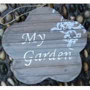 """Dekoschild Holzschild """"My Garden"""""""