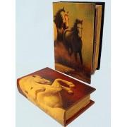 Könyv alakú doboz 2 db (lovas)