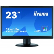 iiyama ProLite XB2380HS-B1 23' LED LCD 1920x1080 IPS Pivot 13cm Height adj 250 cd/m² 5M:1 ACR speakers VGA DVI & HDMI 5ms TCO6