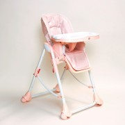 Chaise Haute Bébé Up And Down Avec Double Plateau Rose