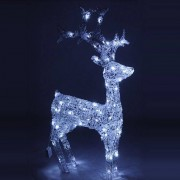 Eminza Renna di Natale LED Dardi Bianco freddo