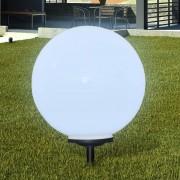 vidaXL Zahradní lampa kulatá solární LED 50cm 1ks s hrotem