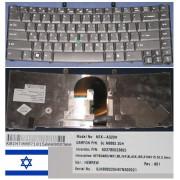 Clavier Qwerty Hébreu / Hebrew Pour ACER Extensa 7620Z, TravelMate 6452, 6492, 6493, 6552, 6592, 6592G, 6593, 6593G Seires, Noir / Black, Model: NSK-AG20H, P/N: KB.INT00.071, 9J.N8882.20H