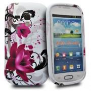 Accessory Master Funda de silicona para Samsung Galaxy S III mini, diseño de flores