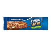 Multipower Power Layer Sportvoeding 60 gram choco-caramel-noten blauw Energierepen