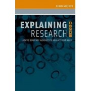 Explaining Research by Dennis Meredith