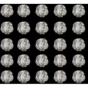 Phenovo ABS Resin Rose Flower Stick on Decoration 11mm 25pcs Ivory