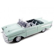 1957 Chevrolet Bel Air Convertible Green Diecast Model 1/18