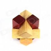 Educacion Overlap Cruz Desbloquear Madera Puzzle Toy - rojo + Color Madera