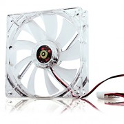 Neuftech 120 mm LED blu Radiatore ventola PC corpo füfter Silent Fan Cooler - 4pin