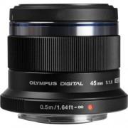 Olympus 45mm f/1.8 ed m.zuiko - nero - 2 anni di garanzia